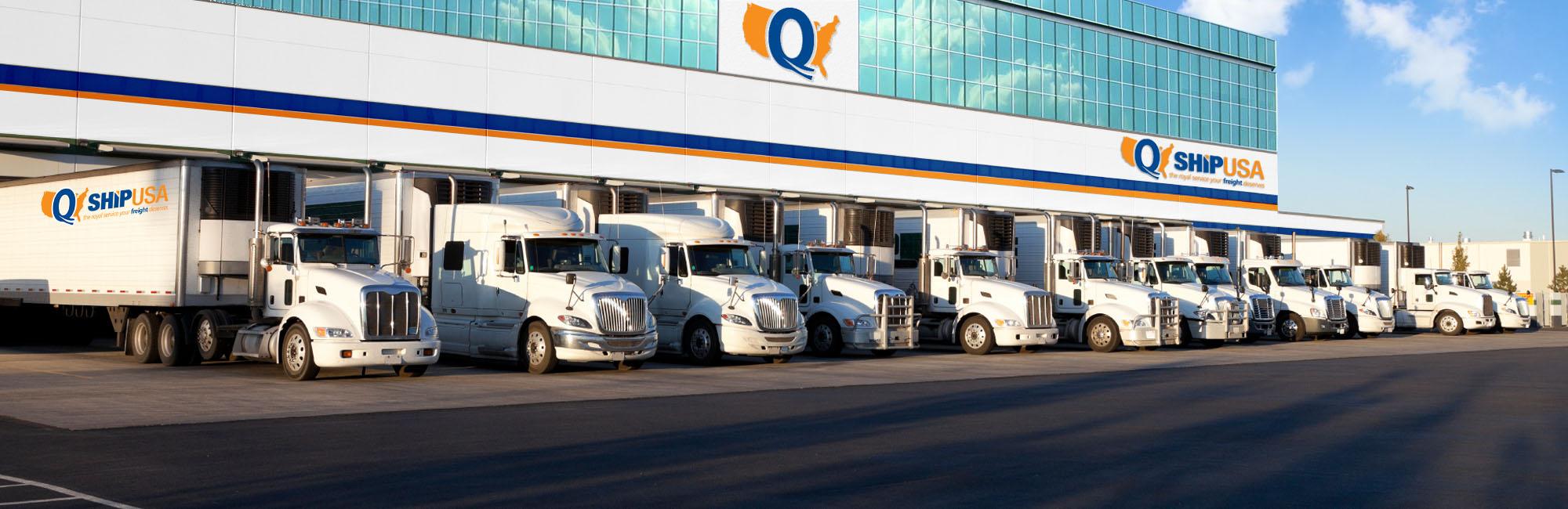 Freight Quote Ltl Q Ship Usa  Freight Broker  Ltl  Truckload  Rail  Reefer Trucking